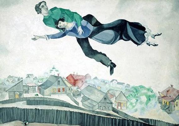 chagall amanti in volo